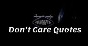 Read more about the article Top 20+ Don't Care Quotes & Sayings 2021