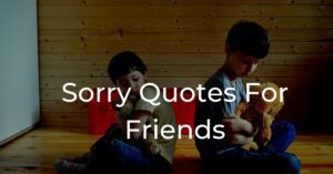 Read more about the article Top 10 Sorry Quotes For Friends : Apology Quotes
