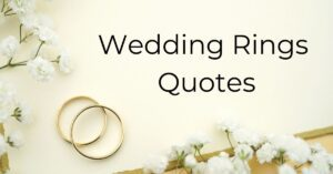 Read more about the article Top 20 Wedding Rings Quotes for your Love